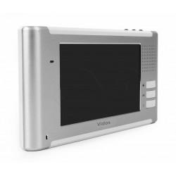 M337 - 7'' srebrny wideomonitor głośnomówiący - Vidos