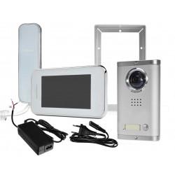1380MC-1B+S702C + E100F - Zestaw wideodomofonowy z dodatkowym unifonem