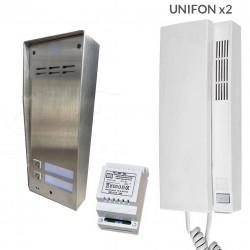 FAM-SET-2NT - Zestaw domofonowy Aco Familio / 2 przyciski