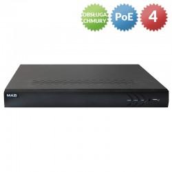 INVR-04ALPOE - Rejestrator IP / 4 kanały / 4 x PoE / 1HDD / VGA, HDMI / 5Mpx
