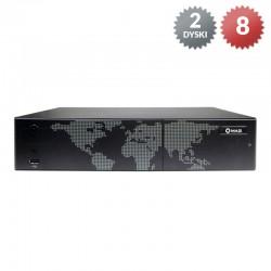 INVR-08S - Rejestrator IP / 8 kanałów/ 2HDD /  VGA, HDMI / 5Mpx