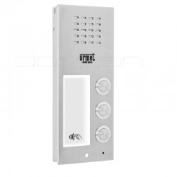 6025/PR3-RF - Płyta rozmówna (front) ELITE z 3 przyciskami i czytnikiem RFiD