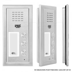 6025/PR3-RF + RP-OP-M - Panel ELITE 3nr / RFiD/ z ramką podtynkową