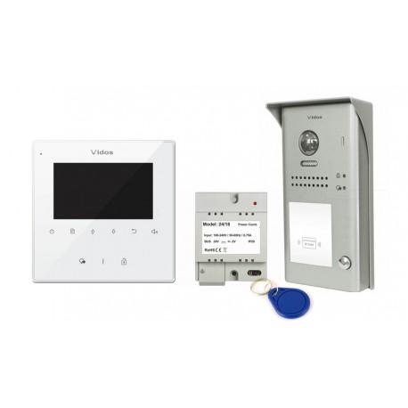 Zestaw wideodomofonowy 1nr / S1101A + M1022W Vidos DUO