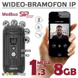 SAFE S06 - Wideodomofon IP Safe 1,3Mpx / 8GB