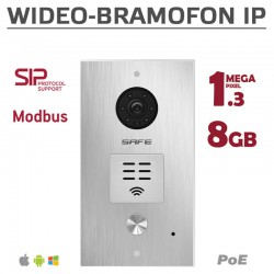 SAFE HS06M - Wideodomofon IP Safe 1,3Mpx / 8GB