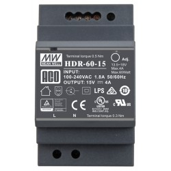 PS-HDR-60-15MA - Zasilacz domofonowy 15V DC, 4A