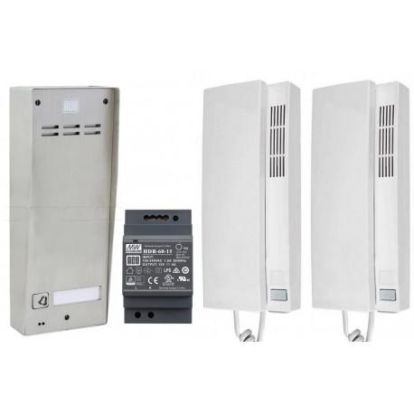 FAM-SET-1NT 2x720MR - Zestaw domofonowy Aco Familio / 1 przycisk / 2 x unifon