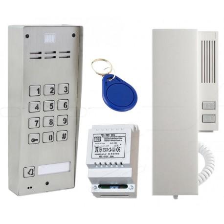 FAM-SET-1ZSACCNT - Zestaw domofonowy Aco Familio / 1nr + klawiatura + RFiD